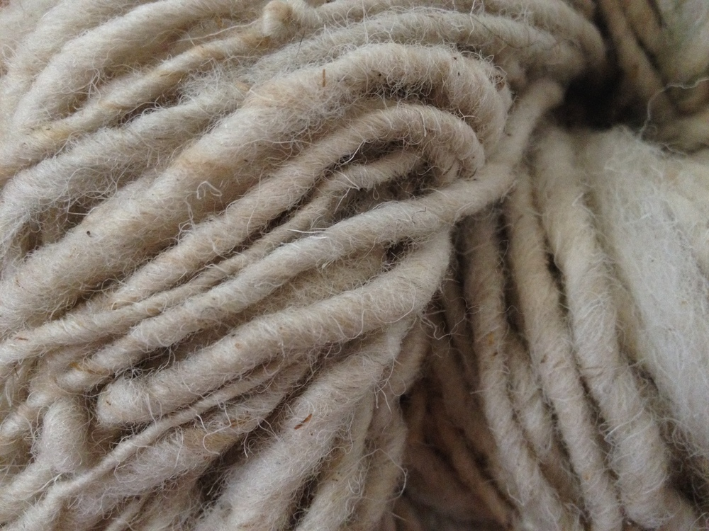 Close-up yarn.