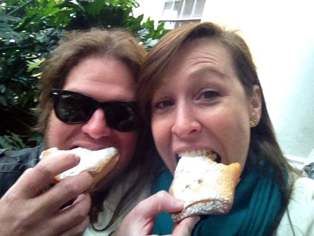 Pat & Sloan at Cafe Beignet