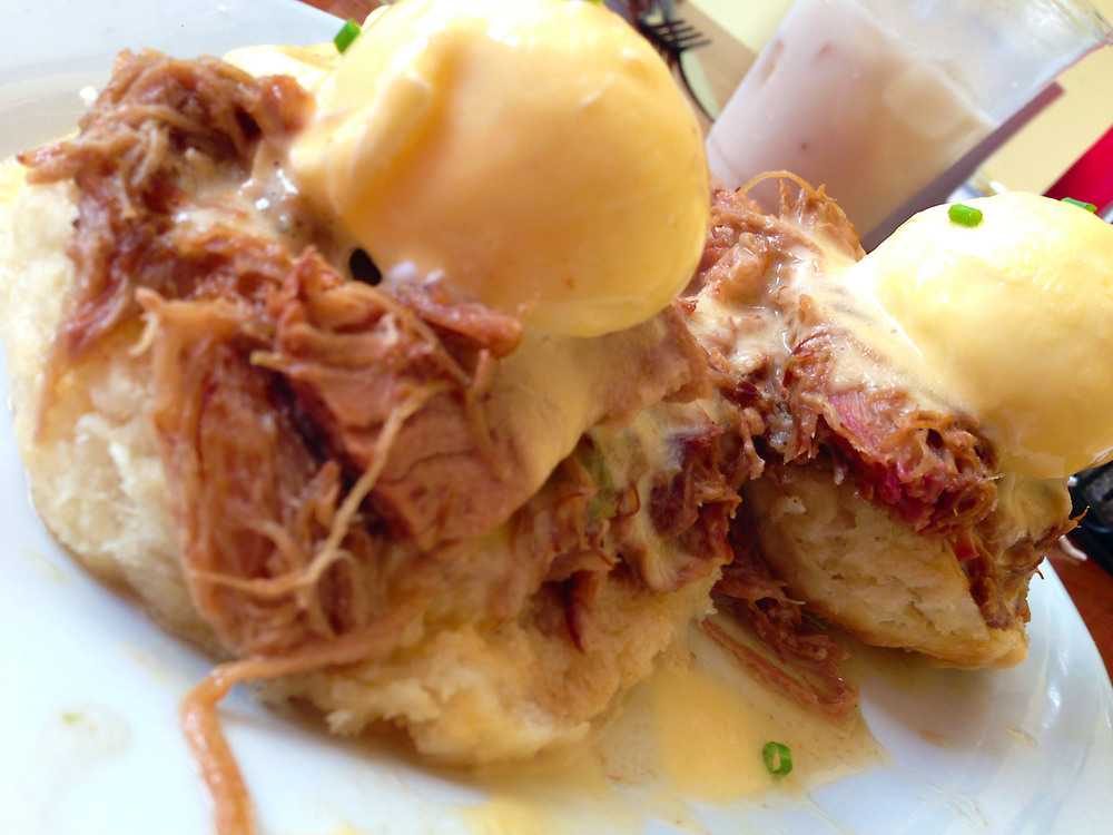Eggs Cochon at The Ruby Slipper in New Orleans