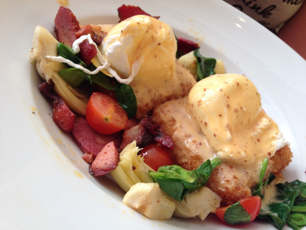 Eggs Touro at The Ruby Slipper in New Orleans
