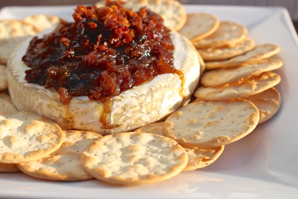 Easy and Elegant New Years App: Baked Brie with Caramelized Onions ...