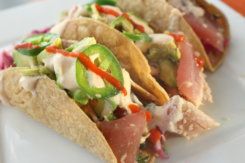 The best thing i ever ate ahi tuna tacos with pickled for Tuna fish tacos
