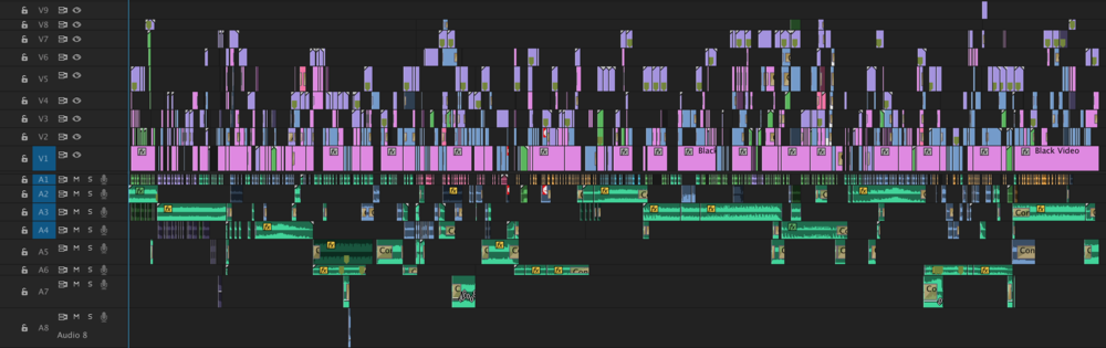 Current editing timeline for Episode 4