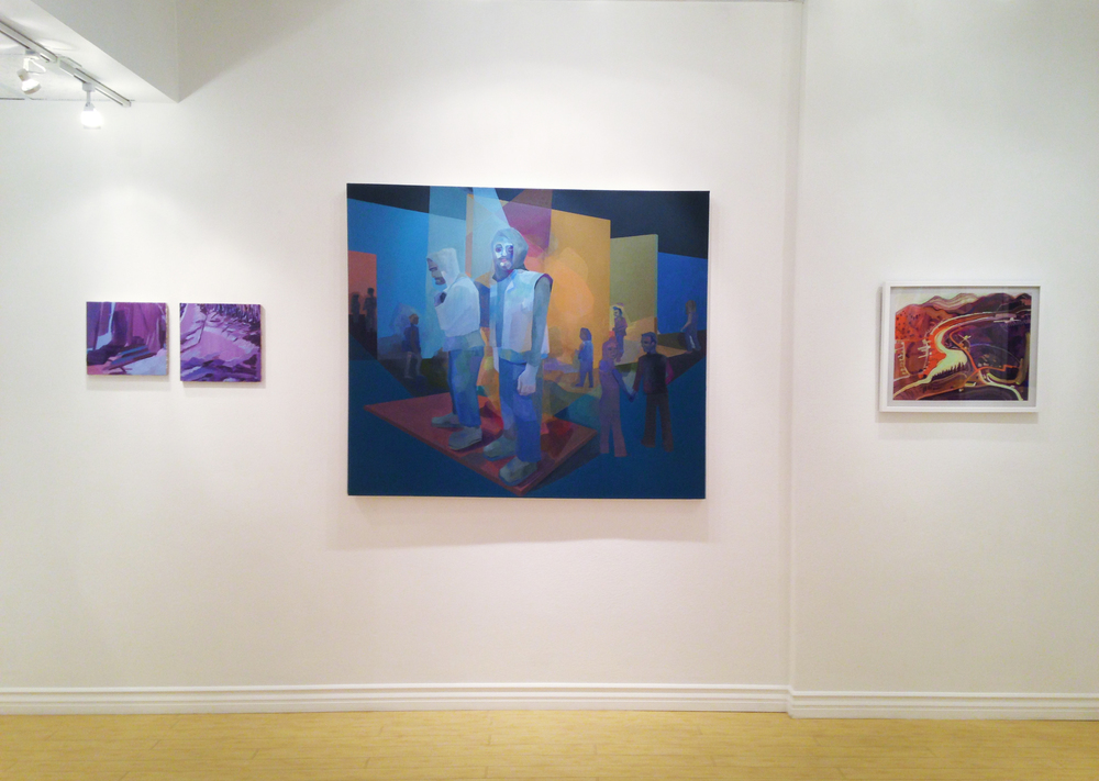 Lauren Whearty, Sara Petras, and Sandy Litchfield, in the company of color