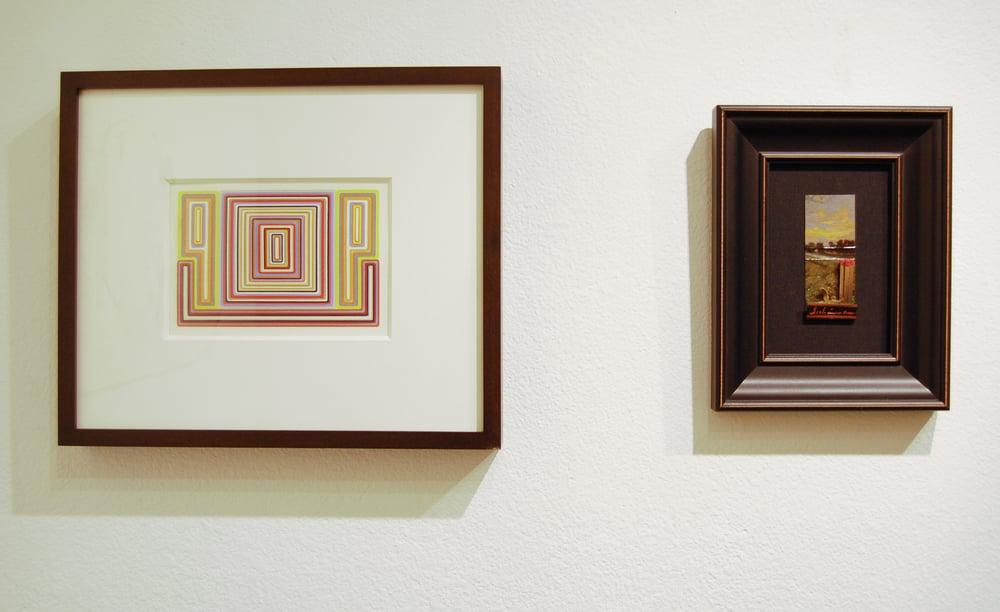 Warren Isensee (left), and Michael Dubina (right), Dialogues: Drawings and Works on Paper