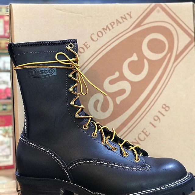 We're proud to carry the toughest boots made in the USA Wesco.  These can be made with a variety of leathers, soles and custom fit.  These are stock boots Perfect for work or play. Open till 2:00 today. #shoplocal #smallbusinesssaturday #wescoboots #motorcycleboots #jobmaster #authenticallyamerican #lehimain