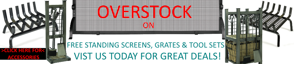 Overstock Free Standing Screens, Grates & Tool sets for Sale