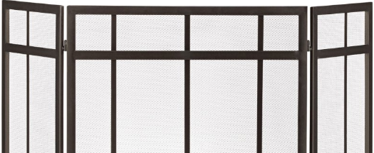 godbyhearthandhome stoll industrial tri-fold free standing free-standing fireplace screen