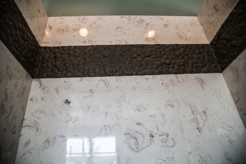 Cultured Marble Shower Walls and Shower Bases | Godby Hearth and Home