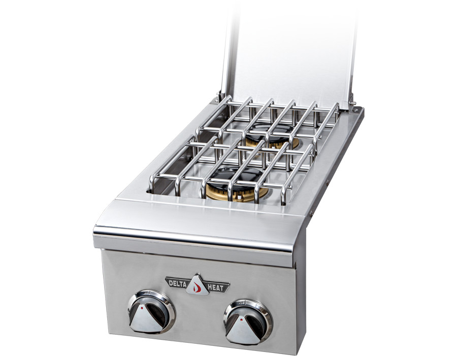 Drop-In Dual Side Burner [DHSB2-B-LR]