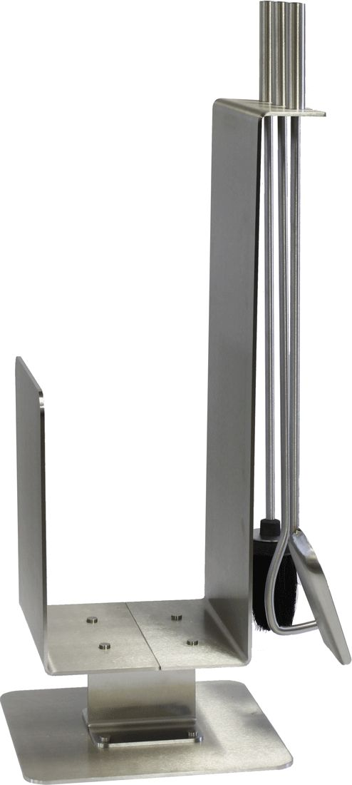 Contemporary Stainless Steel Hearth Center