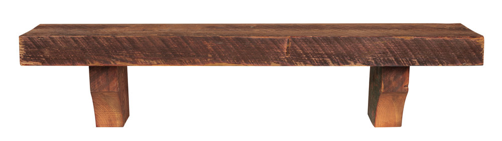 SOLID HEART PINE RECLAIMED WOOD SHELF No. 870 (Whiskey Finish)