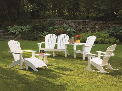 Shell Back Adirondack Rocker with Set