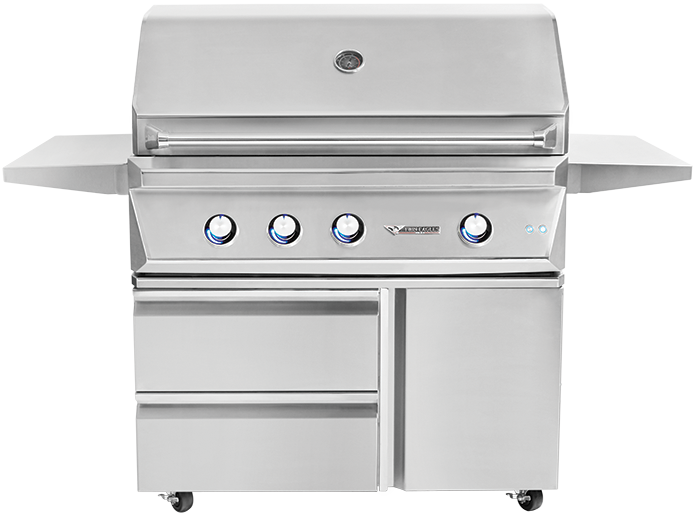 42'' Grill with Storage Drawers [TEGB42SD-B]