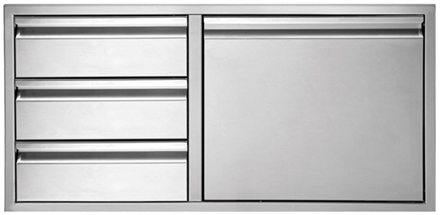 DOOR/THREE DRAWER COMBO [TEDD423-B]