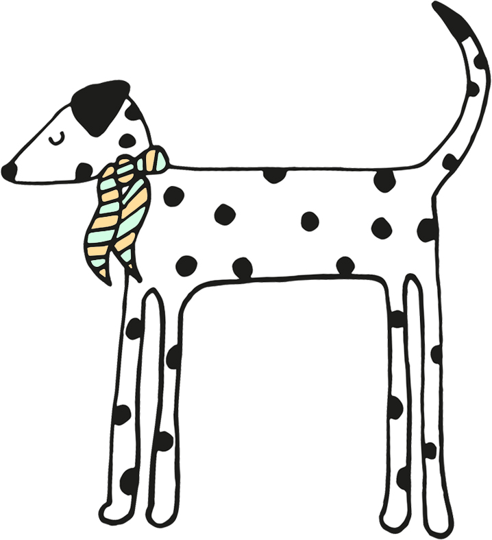 illustrated Dalmatian drawing