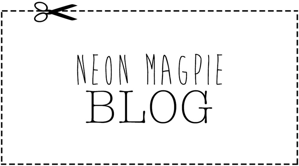 Click Through Black & White banner 'Neon Magpie Blog'