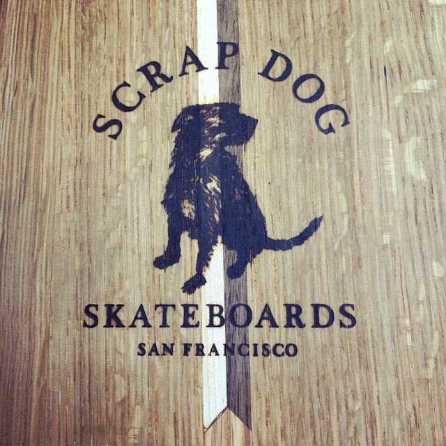 Eight new boards going through the finish coats. This one has a nice detail, the first of its kind. All boards go for $260 complete with Penny components and are made from up cycled hardwoods into one of a kind creations. #scrapdogskate #hardwoodskateboards #skateboards #pennyskate #upcycle #sfdesign #skatedesign #skatecruiser