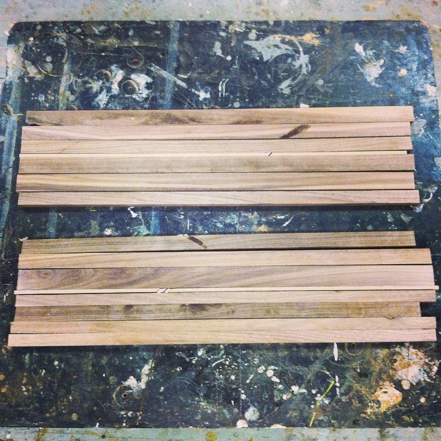 Twin boards ready to be glued up.