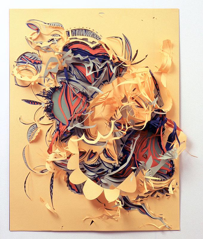 "Solzinho   Paper cut-out  19"" x 27"""