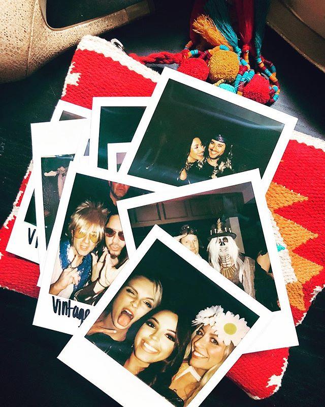 #aboutlastnight @vintagerockclub 🤘🏻🖤🎉 . . . #stagelights #polaroid #vintage #70s #80s #neworleans #halloweenparty #themeparty #rock #musiclover #recap #nostalgic #ilovemyteam