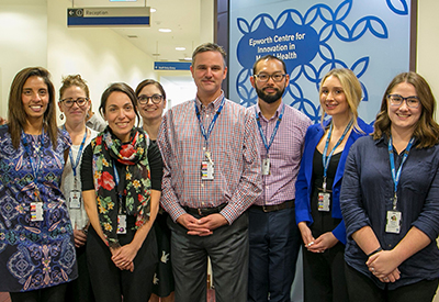Professor Paul Fitzgerald and the Epworth Centre for Innovation in Mental Health research team.