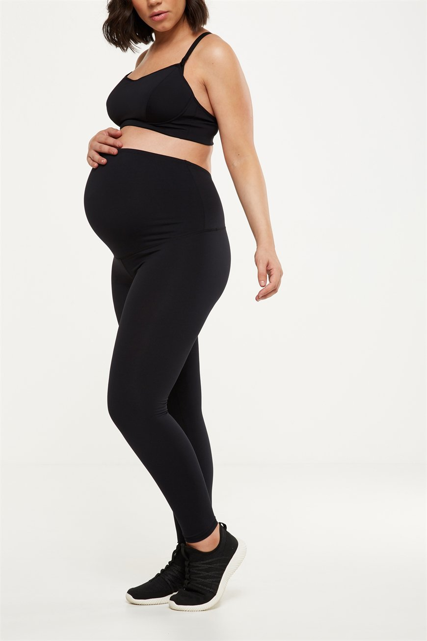 COTTON ON stores across Melbourne and Geelong $29.95 - Exercise tights that feel comfortable over your growing belly, can be hard to find. That's why when I came across these Cotton On leggings, that sit over your bump, I jumped for joy! They come in a range of colours, and sizes, don't feel too tight, and grow with you. You can also purchase a cropped version for the warmer months.