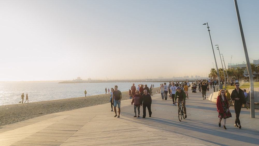 Bayside Cycling Trail.  Photo credit: Visit Melbourne.
