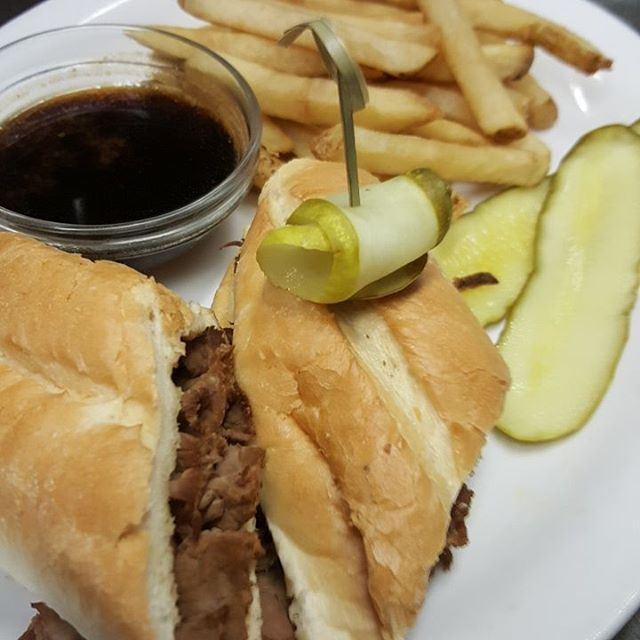 Today's Special: Beef Dip w/au jus s/w fries, soup or salad $13.99