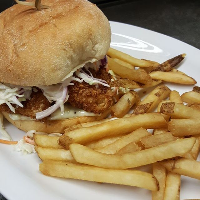 Today: Breaded Haddock Burger w/Tartar&Coleslaw s/w Fries or Salad $13.99