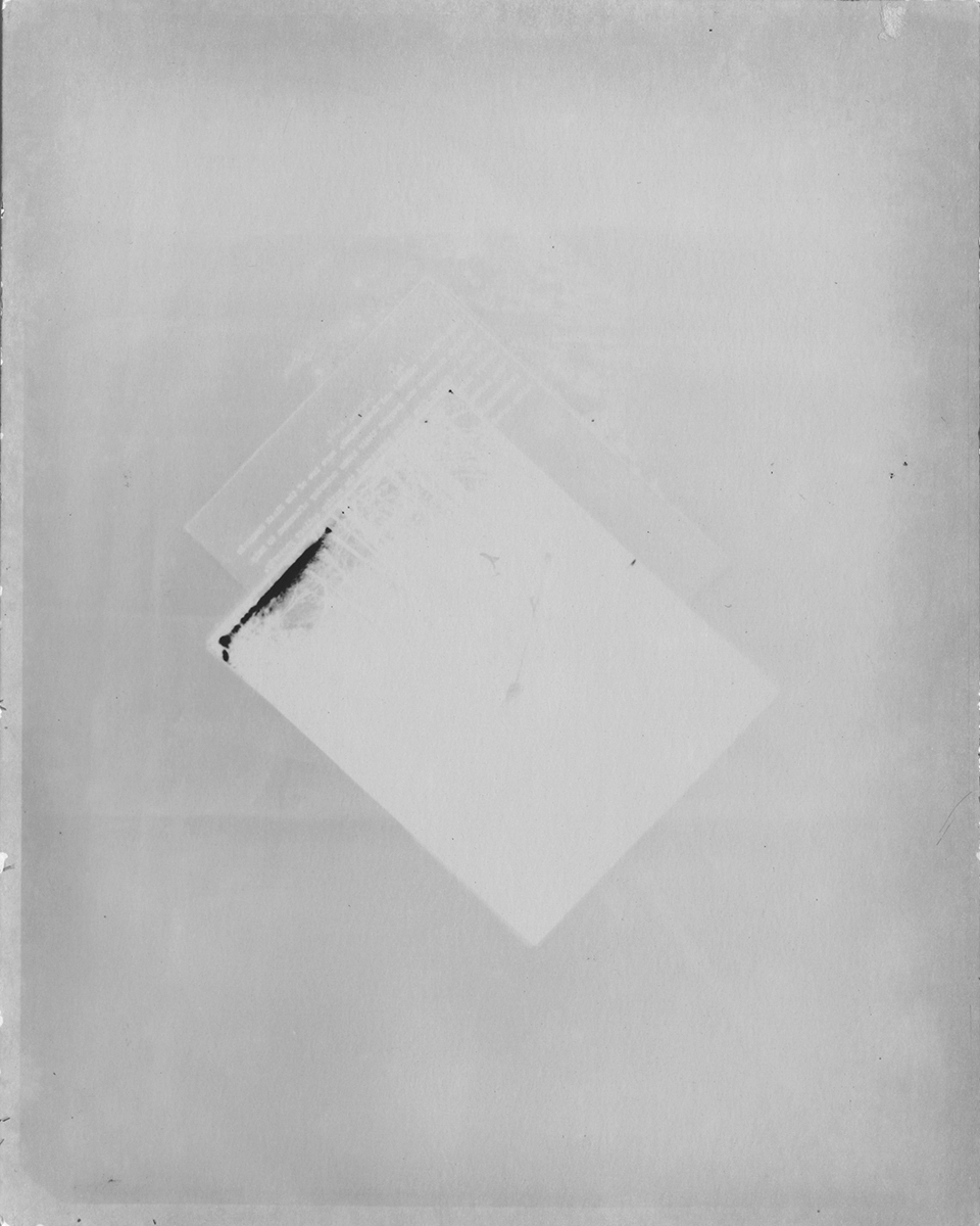 Description and photograph.    Black Mountain College Papers Office of Archives and History Raleigh, North Carolina , 2011.  Silver gelatin paper negative, 5 x 4 inches.