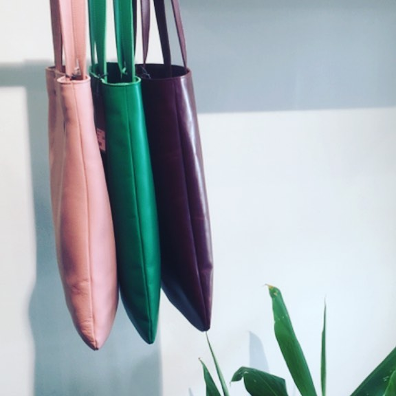 Georgia comes alive in a burst of summer colour:Currant,Blush and Jade $239 Colours instore only or by phone:(03)98261116 2 per colour available #madeinmelbourne #leatherbags #leathertote #custommade