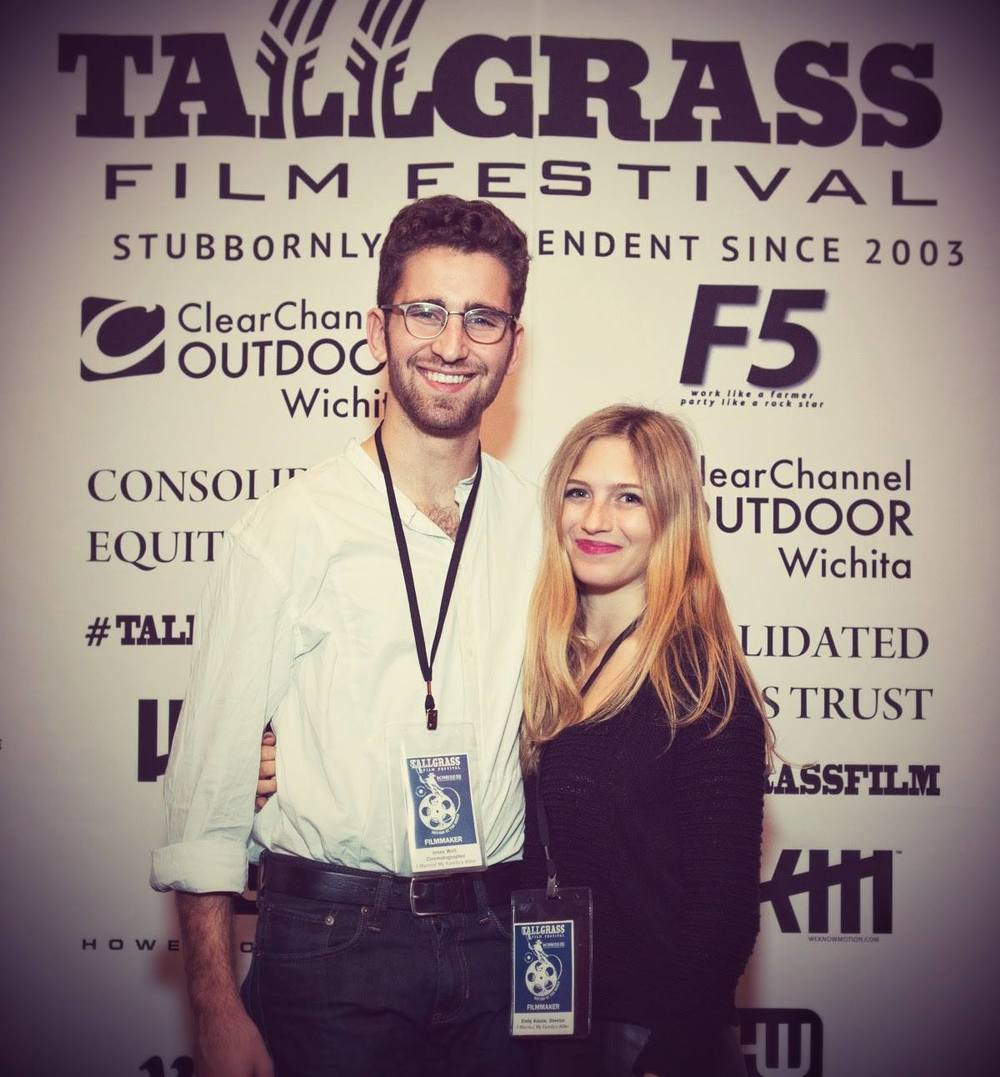 Director Emily Kassie and Cinematographer Jesse Weil at the film's premier at Tallgrass Film Fest