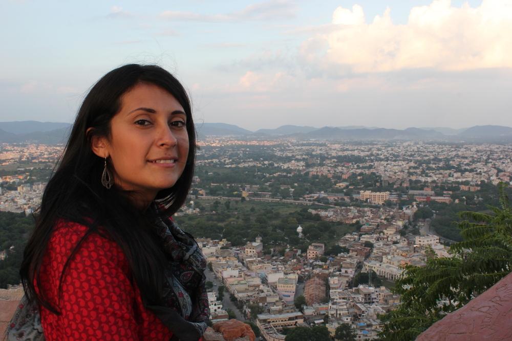 Fonda overlooking Udaipur, Rajasthan, India