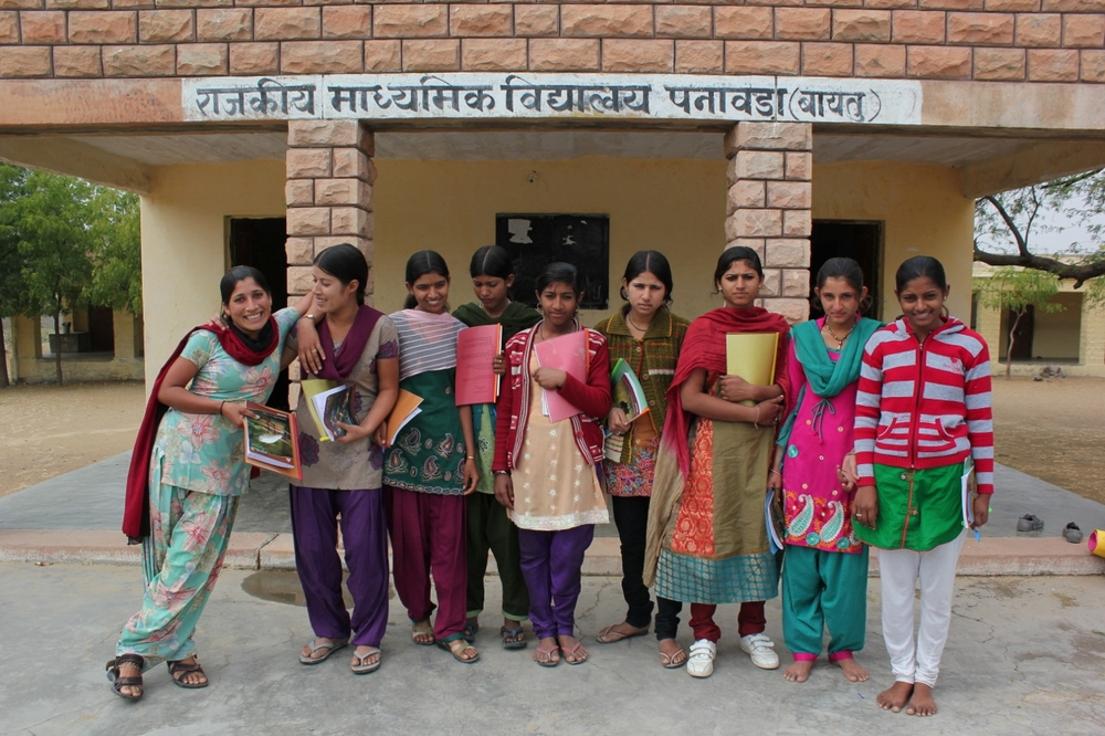 The first group of girls to participate in Education For Equality's empowerment program