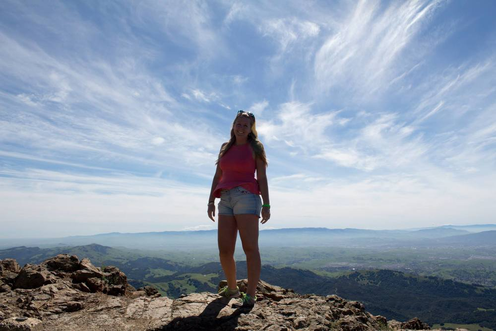Taggie enjoying Mount Diablo, California.