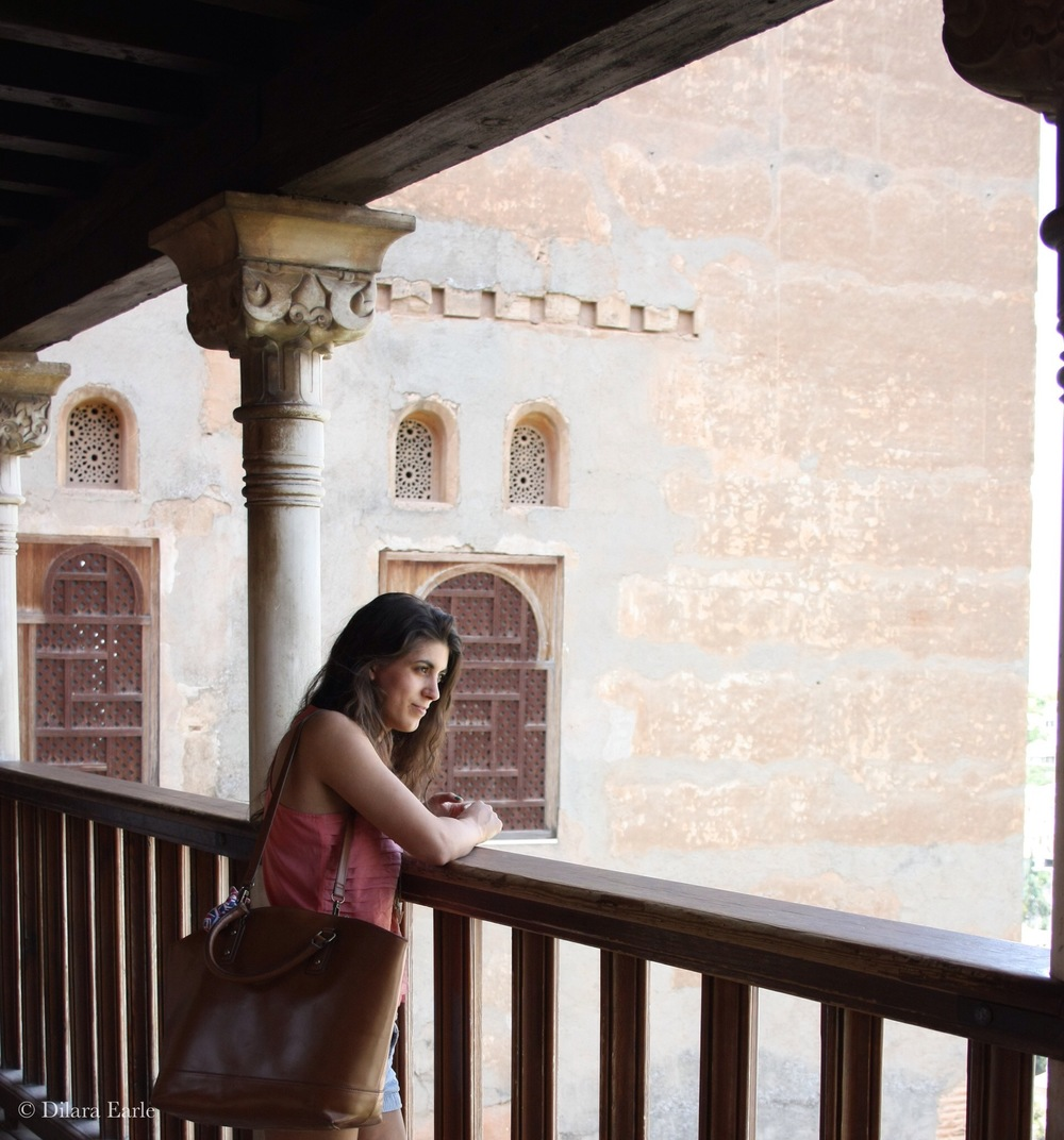 Dilara at the Alhambra de Granada, Spain