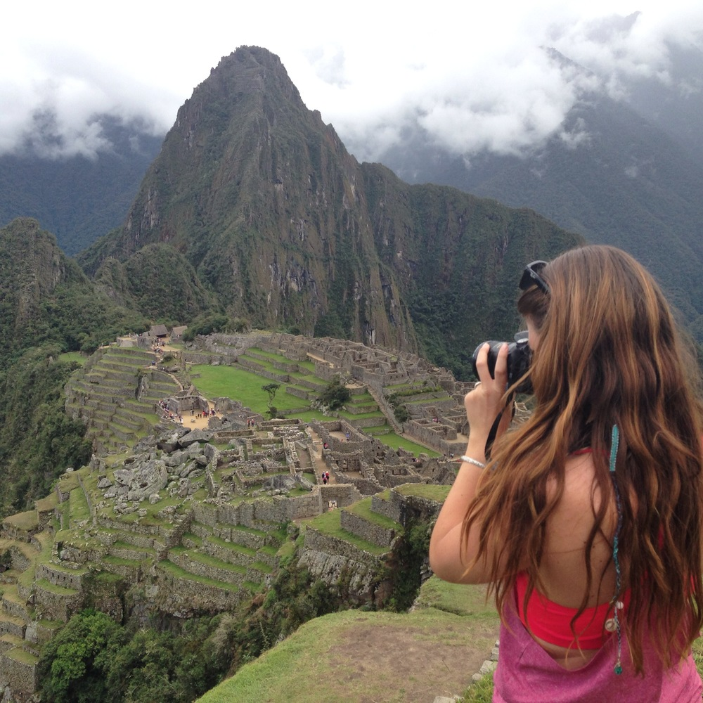 Katie celebrating her 26th birthday at Machu Picchu