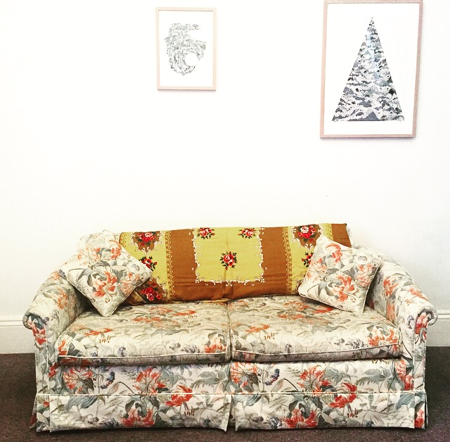 HQ's very own couch.