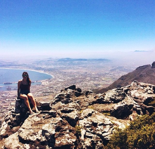 The view from Table Mountain, South Africa
