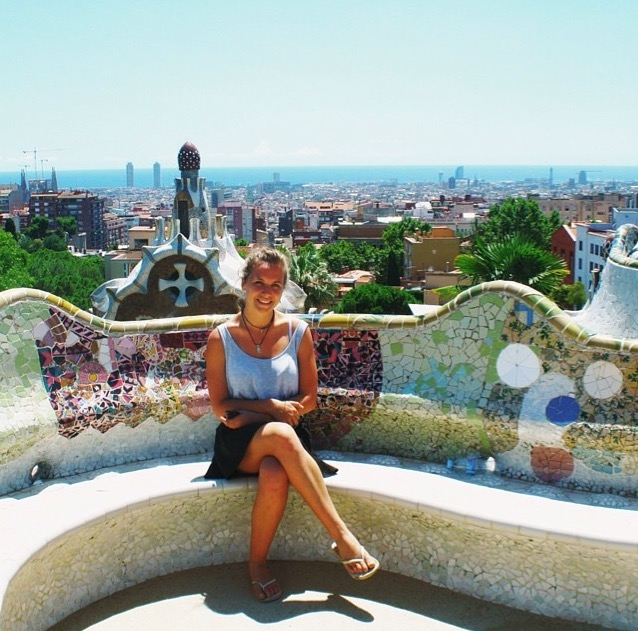 Ruby at Park Güell, Barcelona, Spain
