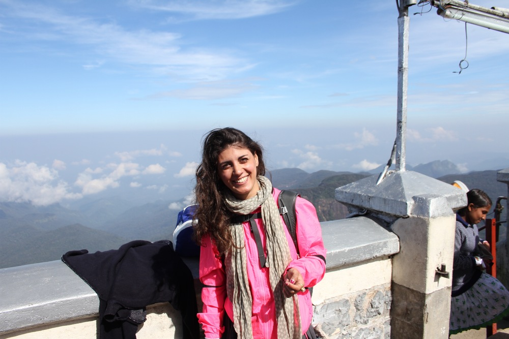 Dilara at Adam's Peak, Sri Lanka for Sunrise