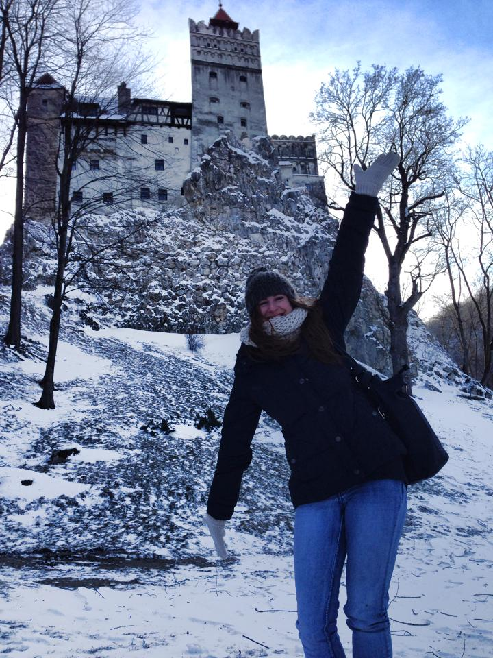 Mel at Bran's Castle, (aka Dracula's Castle), Bran, Romania