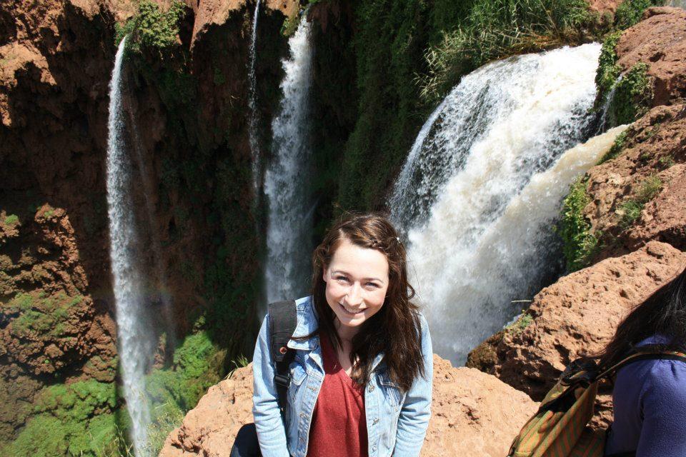 Helena at Ouzoud Falls, Morroco