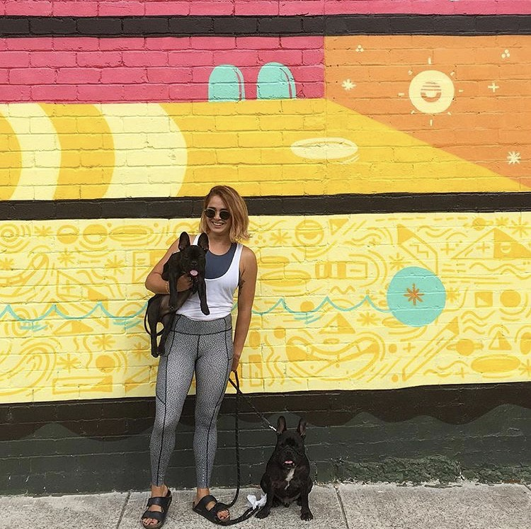 Jennalea & pooch pals in her hometown of Melbourne, Australia