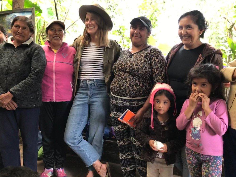 Emily with the Floras de Choco