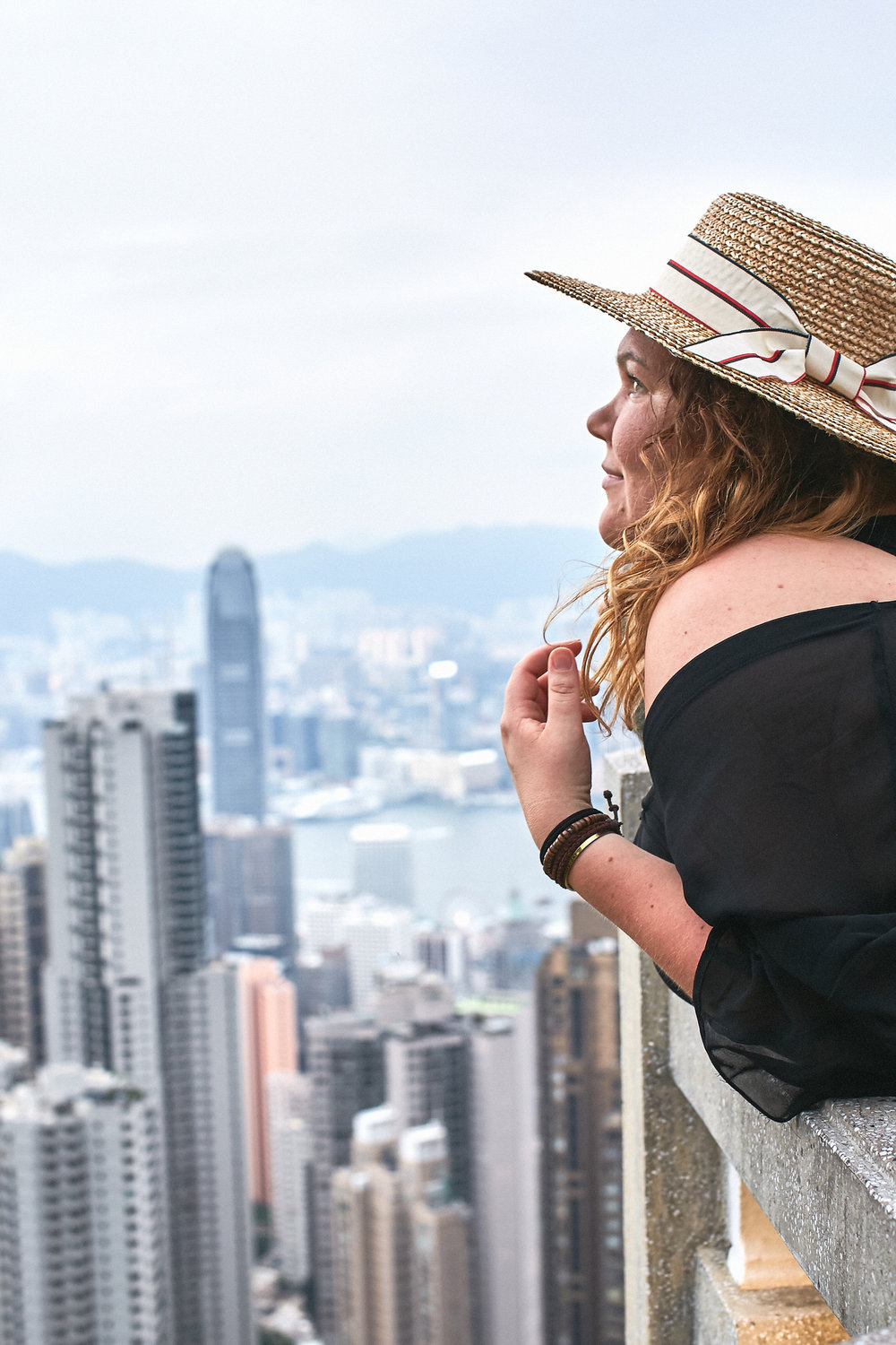 Veera in her favourite city, Hong Kong, on a campaign trip with FinnAir