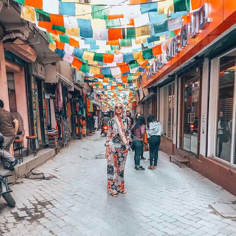 Saira street styling in Kathmandu, Nepal