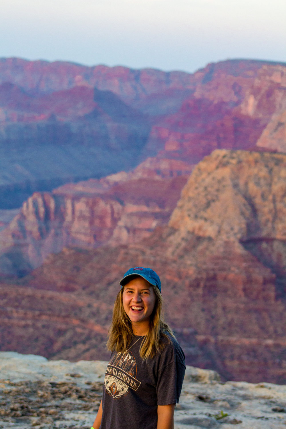 Joelle exploring the vastness of the Grand Canyon National Park, Arizona, USA