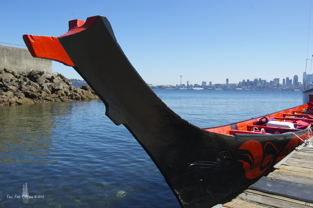 The Duwamish Tribe's Raven Canoe in West Seattle.